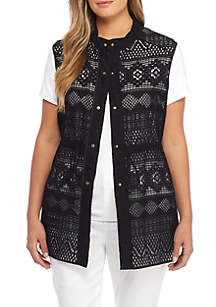 Plus Size Lace Vest
