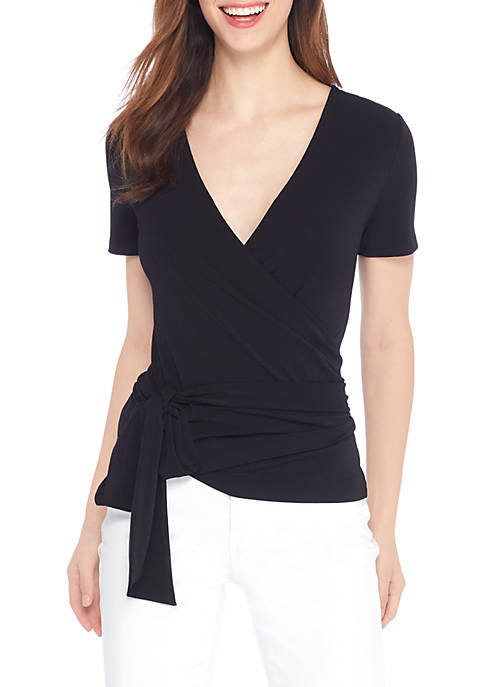 THE LIMITED Reversible Wrap V-Neck Blouse