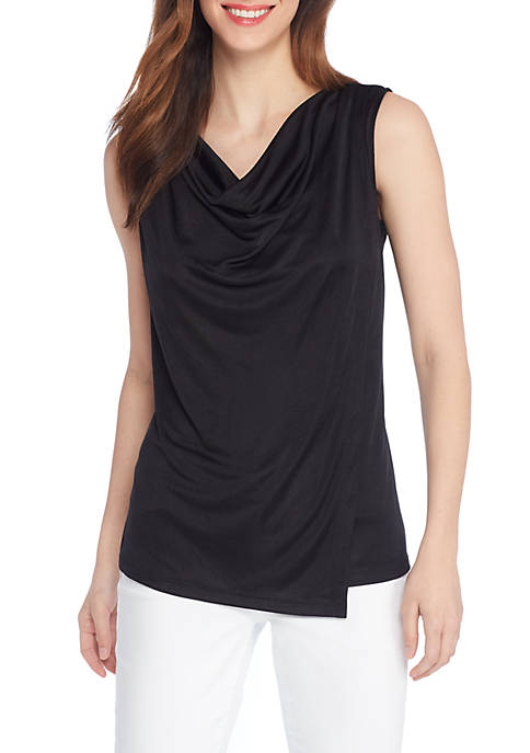 THE LIMITED Sleeveless Ruch Asymmetric Top