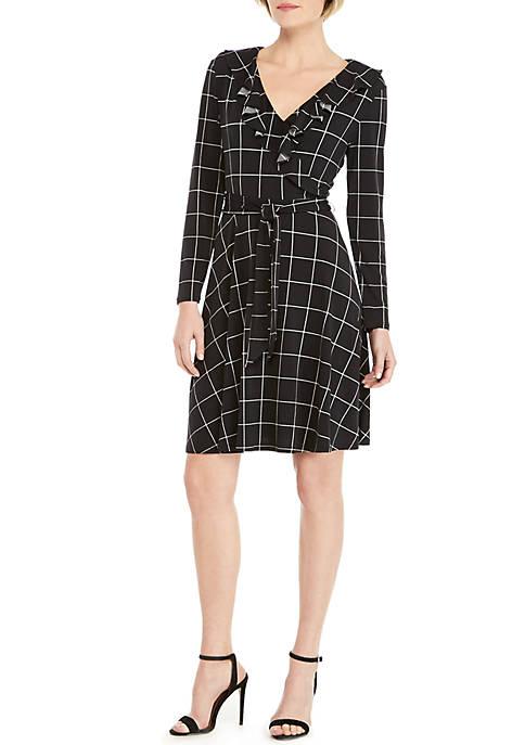 THE LIMITED Petite 3/4 Sleeve Wrap Dress