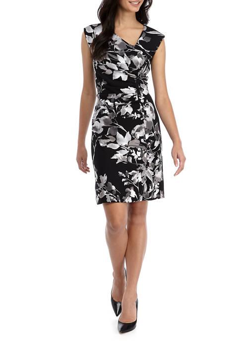 Womens Short Sleeve Side Ruch Dress