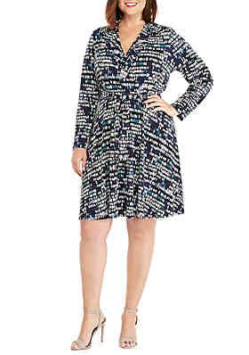 63ed244890092 THE LIMITED Plus Size 3 4 Sleeve Wrap Dress ...