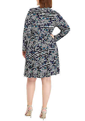 6bee182726 ... THE LIMITED Plus Size 3 4 Sleeve Wrap Dress