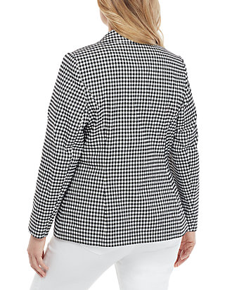 6d7a2cbe82879 THE LIMITED. THE LIMITED Plus Size Two Button Blazer in Gingham