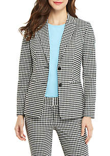 THE LIMITED Petite 2 Button Blazer in Gingham