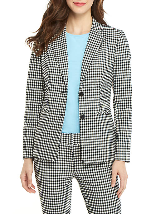 THE LIMITED 2 Button Blazer in Gingham