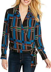 Wrap Blouse with Tie Waist