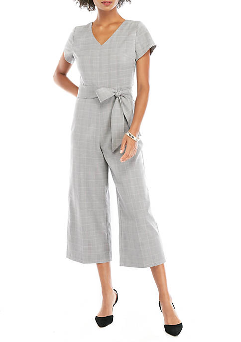 THE LIMITED Glen Plaid Jumpsuit