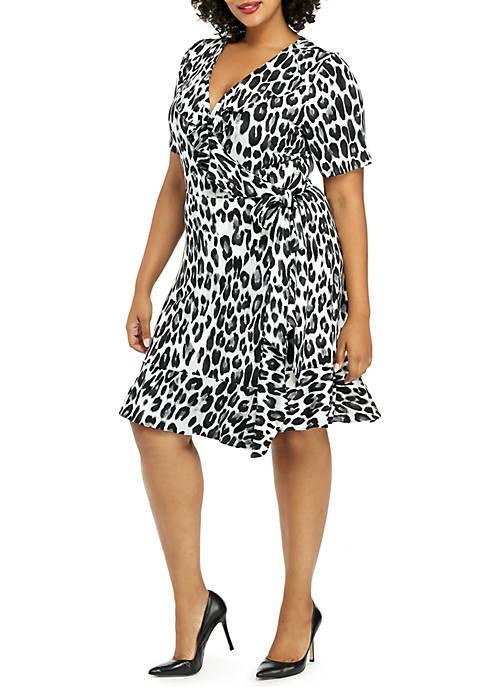 Plus Size Ruffle ITY Dress