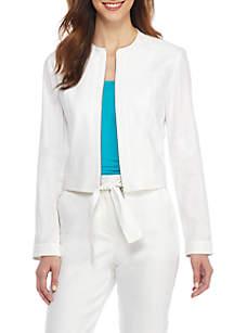 Linen Moto Jacket