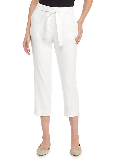 THE LIMITED Petite Signature Crop Pant in Linen