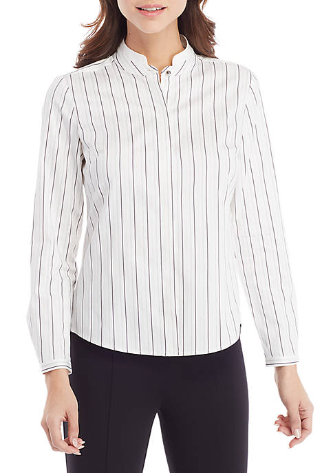 Shirting with French Collar Detail