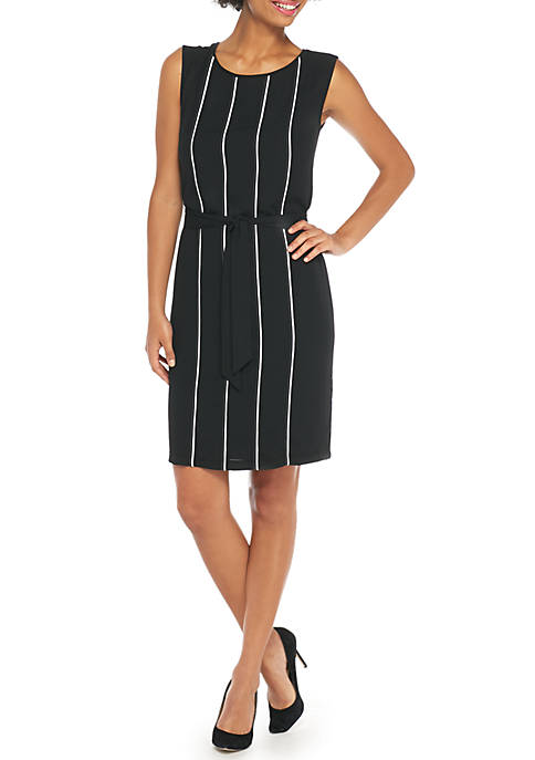 THE LIMITED Contrast Pintuck Dress