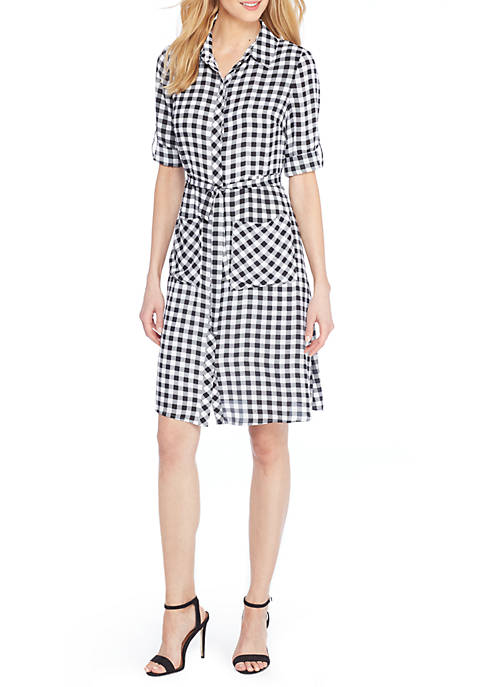 THE LIMITED Petite Fluid Crepe Shirt Dress