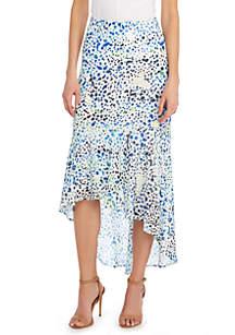 Clip Dot Maxi Skirt