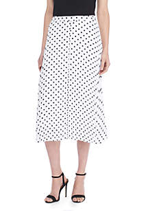 Crepe Pleated Skirt