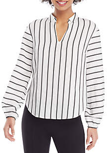 THE LIMITED Long Puff Sleeve Collar Blouse