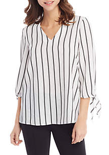 THE LIMITED Tie Sleeve V-Neck Blouse