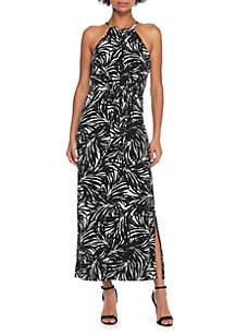 Halter Tie Front Dress
