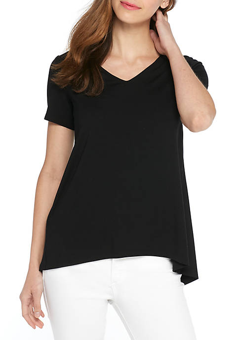 THE LIMITED Short Sleeve Scoop Neck Top
