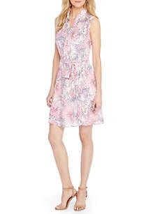 Petite Sleeveless Collared Dress