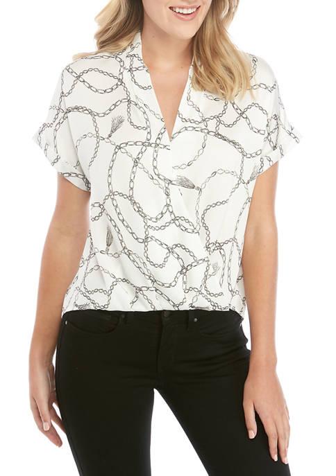 Cross Over Short Sleeve Top