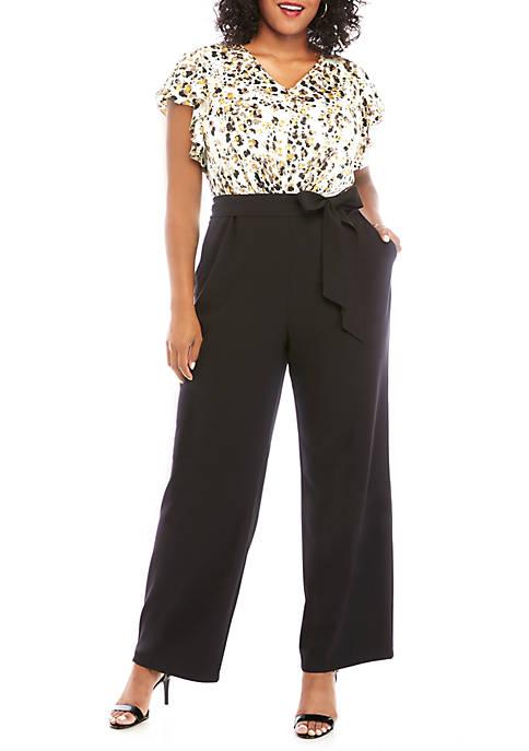 Plus Size Modern Stretch Jumpsuit