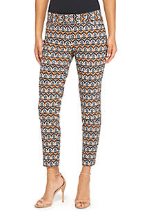 Petite Signature Fly Front Ankle Pants in Exact Stretch