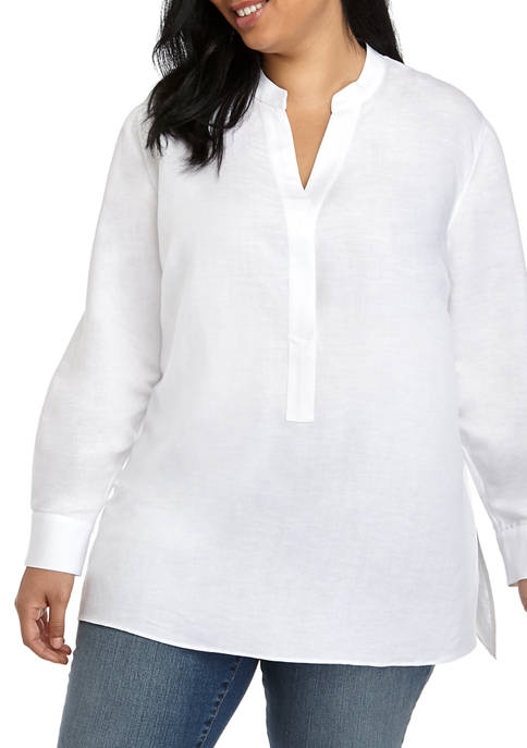 THE LIMITED Plus Size Long Sleeve Oversize Linen