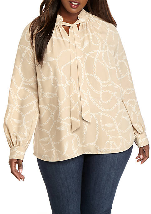 Plus Size Ashton Top with Tie