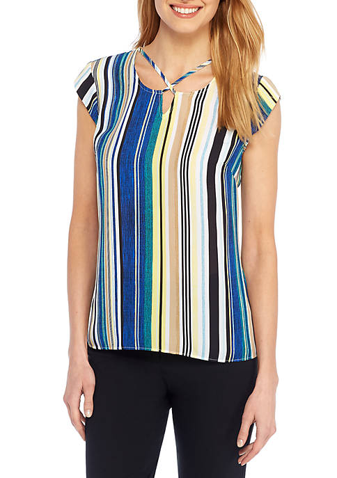 THE LIMITED Cross Tie Neck Top