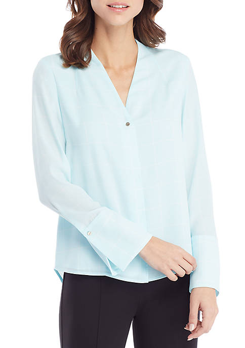THE LIMITED V-Neck Bell Sleeve Blouse