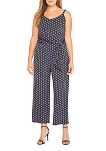 Plus Size Cami Jumpsuit with Tie Waist