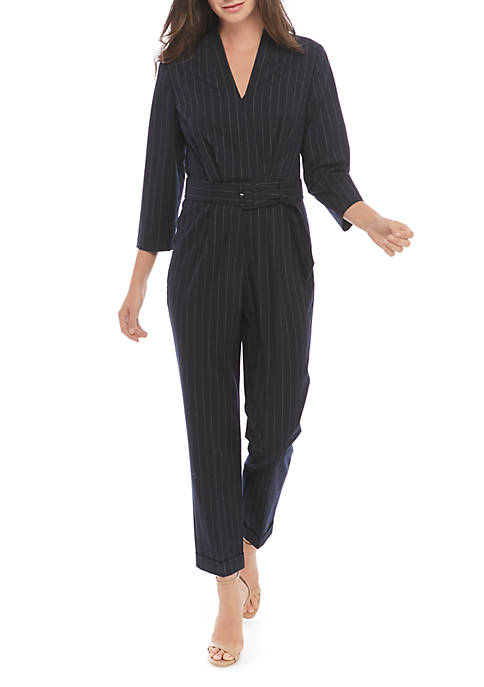 Menswear Stripe Jumpsuit
