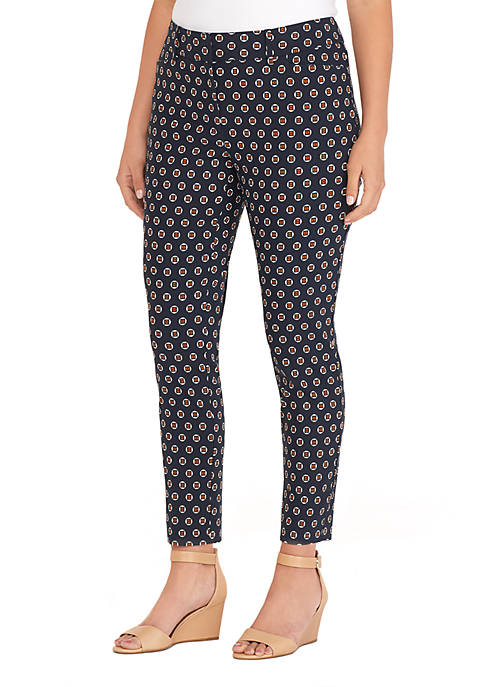Plus Size Signature Fly Front Ankle Pants in Exact Stretch