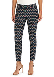 Signature Fly Front Ankle Pants in Exact Stretch