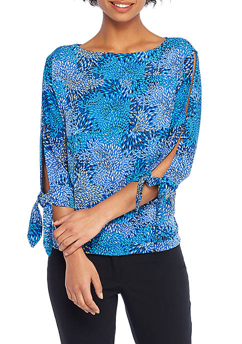 THE LIMITED Print Banded Knit Top