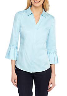 Petite Origami Collar Shirt