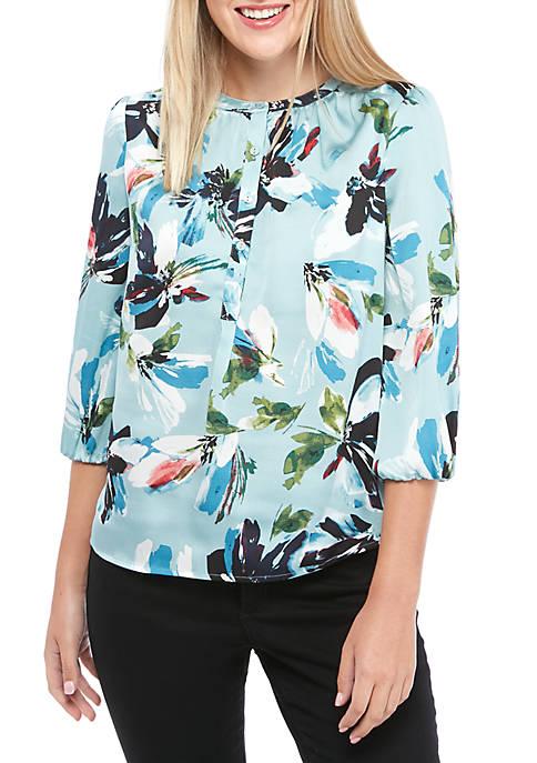 Womens Mandarin Collar Blouse