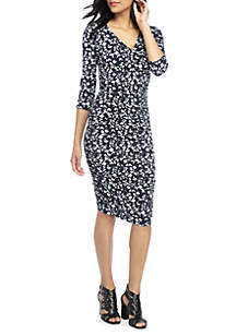 THE LIMITED Ruched Side Dress