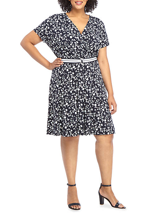 Plus Size Dress with Belt