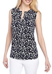 eedfd47c94a58 ... THE LIMITED Printed Sleeveless Top with Chain Neck