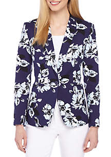 THE LIMITED Petite One Button Blazer