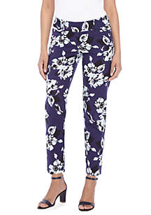 THE LIMITED Petite Floral Printed Ankle Pants