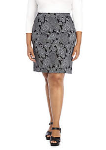 THE LIMITED Plus Size Exact Stretch Pencil Skirt