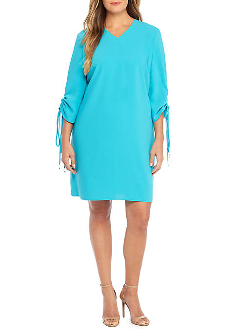 THE LIMITED Plus Size Ruch Sleeve Dress