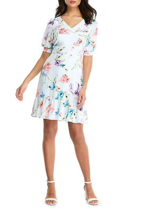 Printed Knee Length Dress