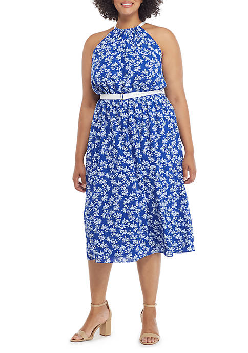THE LIMITED Plus Size Sleeveless Halter Dress with