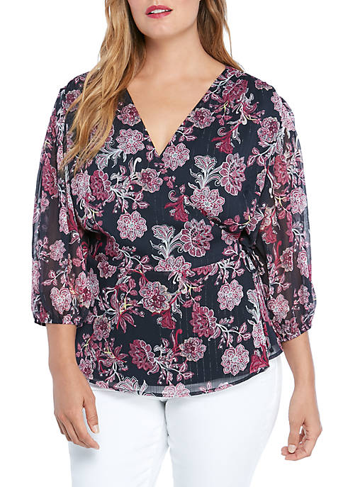 THE LIMITED Plus Size Faux Wrap Top
