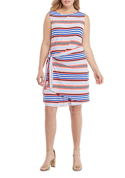 THE LIMITED Plus Size Sleeveless Sarong Tie Dress
